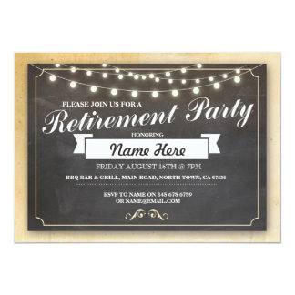 Retirement Party Vintage Retired Chalkboard Invite