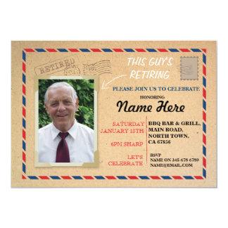 Retirement Photo Postal Post Card Retired Invite