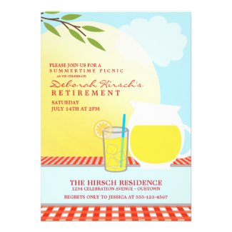 Retirement Picnic Party Invitations