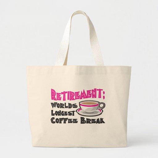 Retirement (Pink) Jumbo Tote Bag