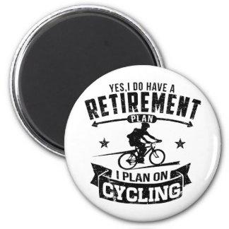 Retirement Plan cycling Magnet