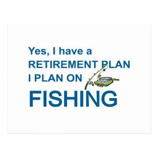 RETIREMENT PLAN - FISHING POSTCARD