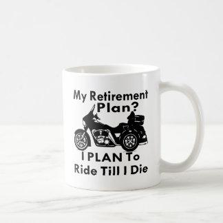 Retirement Plan Ride Till I Die Trike Coffee Mug