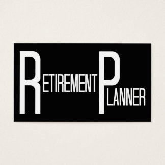 Retirement Planner Word Business Card