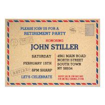 Retirement Postcard Mail Post Invite Invitation