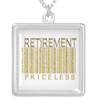 'Retirement - Priceless' Barcode Necklace