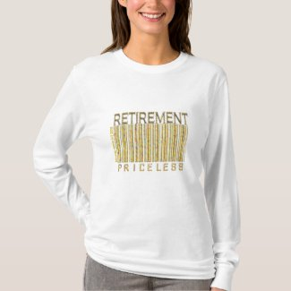 'Retirement - Priceless' Barcode Shirt