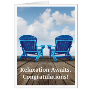Relax cards greeting photo cards zazzle retirement relaxation awaits giant greeting card m4hsunfo Gallery
