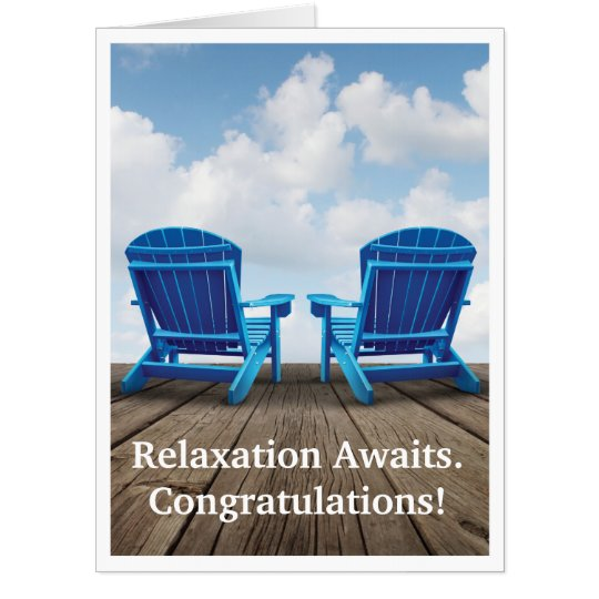 Retirement relaxation awaits giant greeting card zazzle retirement relaxation awaits giant greeting card m4hsunfo