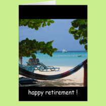 retirement relaxin' card
