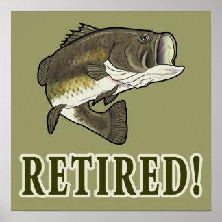 Retirement: Retired: Largemouth Bass Poster