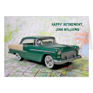 Retirement Retro Car Card