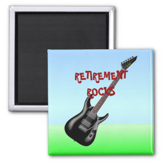 RETIREMENT ROCKS 2 INCH SQUARE MAGNET
