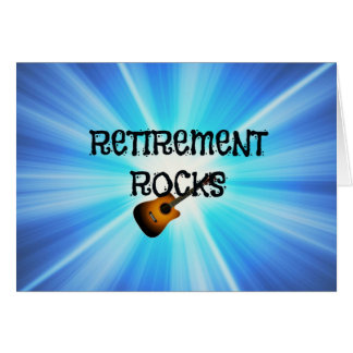 Retirement Rocks Card