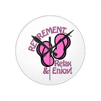 Retirement Round Clock
