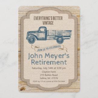 Retirement Rustic Pickup Truck Invitation