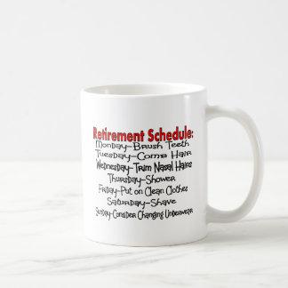 """Retirement Schedule"" Funny Gifts Coffee Mug"