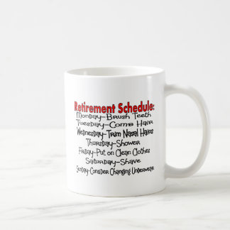 """""""Retirement Schedule"""" Funny Gifts Classic White Coffee Mug"""