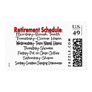 """""""Retirement Schedule"""" Funny Gifts Postage Stamp"""