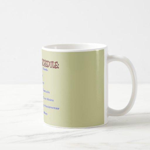 Retirement Schedule -Funny Retirement Gifts Coffee Mug