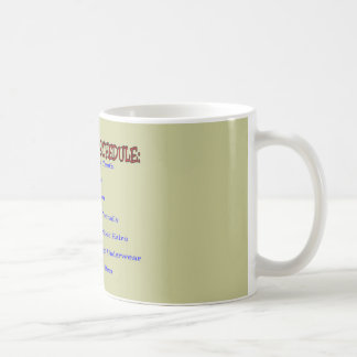 Retirement Schedule -Funny Retirement Gifts Classic White Coffee Mug