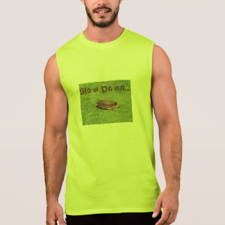Retirement - Slow Down Turtle on Golf Course Sleeveless Shirt