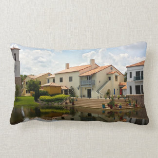 Retirement - Solivita Village Center Kissimmee FL Lumbar Pillow