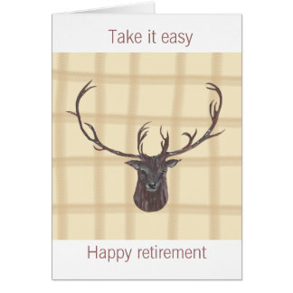 Retirement Stag's Head greeting card