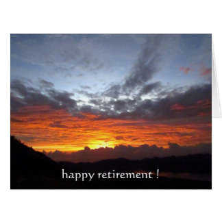 retirement sunset colors big card