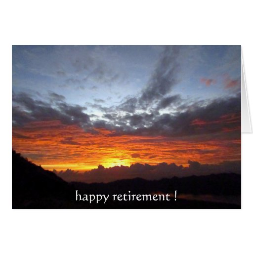 retirement sunset colors cards
