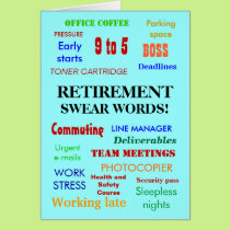Retirement Swear Words! Customisable Card