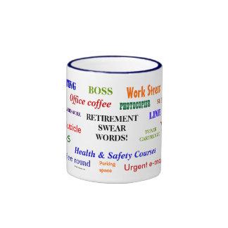 Retirement Swear Words! Funny Retirement Joke Ringer Mug
