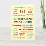 Retirement Swear Words! Retirement Humor Card