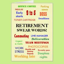Retirement Swear Words! Retirement Humor Card