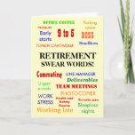 Retirement Swear Words   Retirement Joke Humor Card
