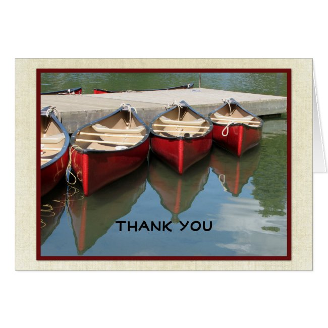 Retirement Thank You Note, Three Red Canoes