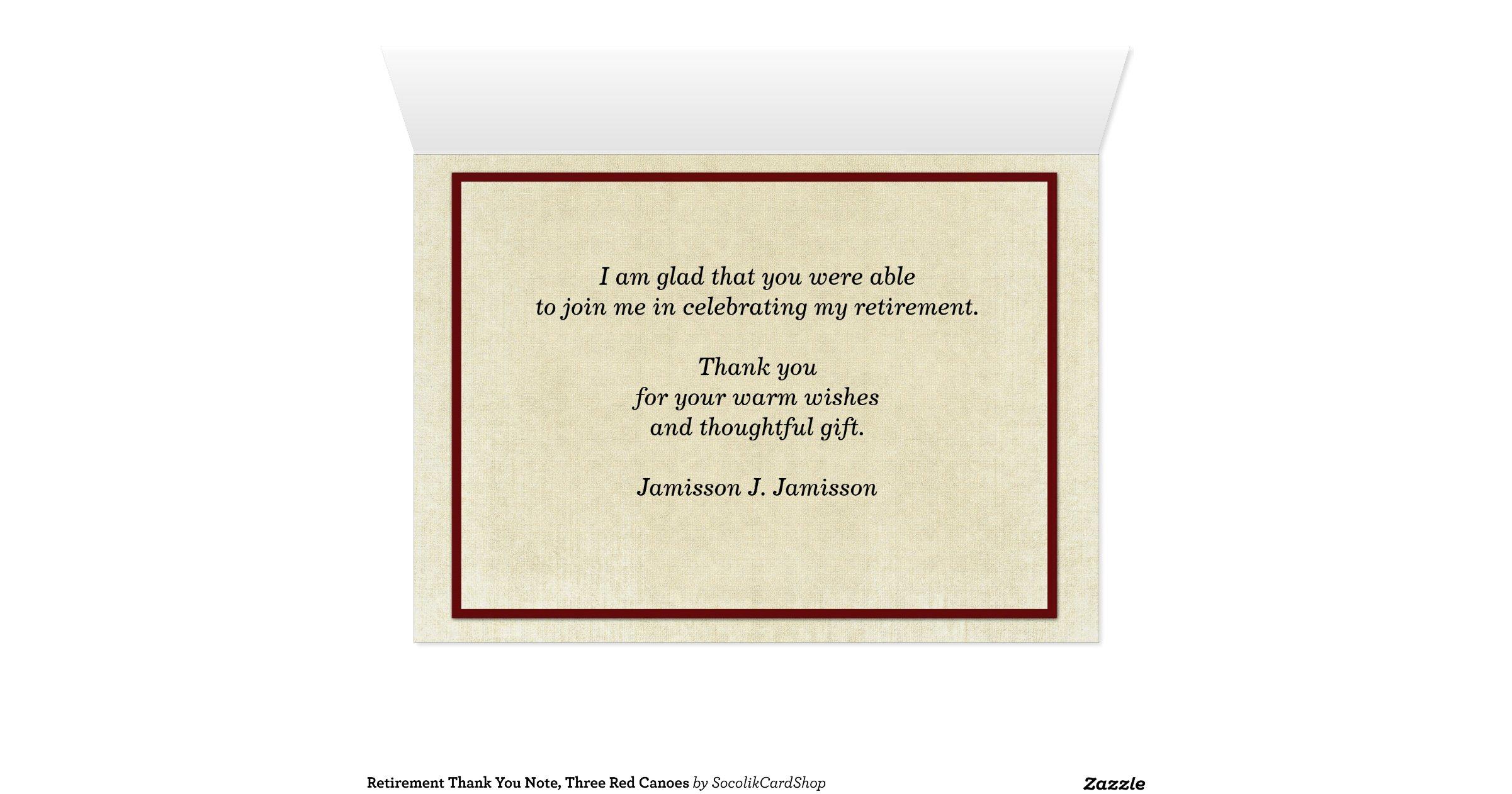Thank You Letter Retirement Gift Retirement Letter