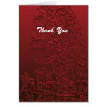 Retirement Thank You Red Ferris Wheel Stationery Note Card