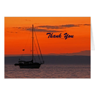 Retirement Thank You Sailboat at Sunset Card