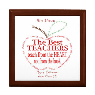 Retirement, Thank you Teacher Gift Jewelry Box