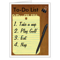 Retirement To Do List Giant Greeting Card