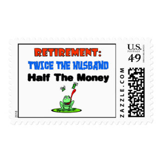 Retirement twice the husband stamp