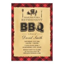 Retirement Vintage Pig Roast BBQ Party Card