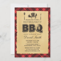Retirement Vintage Pig Roast BBQ Party Invitation
