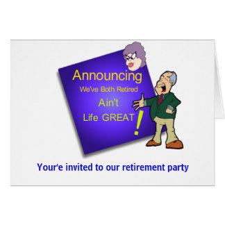 Retirement, Your'e invited to our retirement party Card