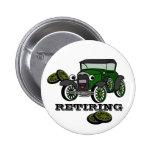 Retiring Antique Car Button