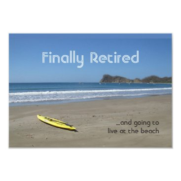 Beach Themed Retiring at the Beach Card