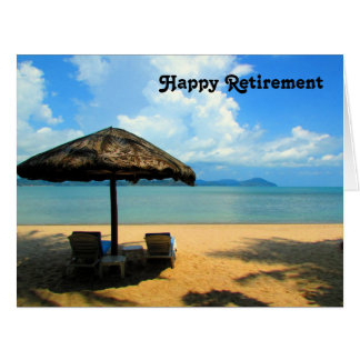 retiring beach dream big card