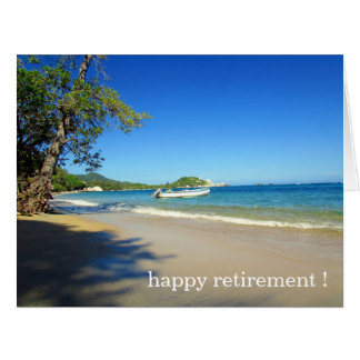 retiring beach time big card