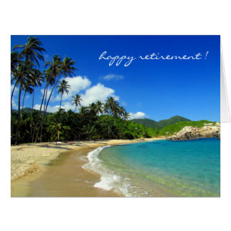 retiring caribbean beach card